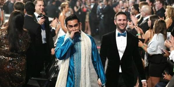 The Hot Blue Sherwani at the Grammy Awards Ceremony Last Night