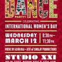 Dance Party Celebrating International Women's Day on March 12th